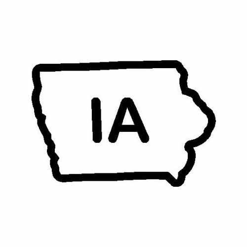 States Iowa  Vinyl Decal Sticker  Size option will determine the size from the longest side Industry standard high performance calendared vinyl film Cut from Oracle 651 2.5 mil Outdoor durability is 7 years Glossy surface finish