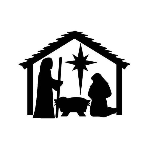 Nativity Christmas Vinyl Sticker