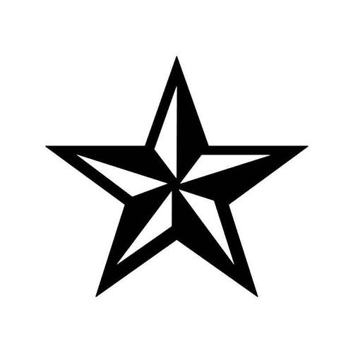 Nautical Star Symbol Vinyl Sticker