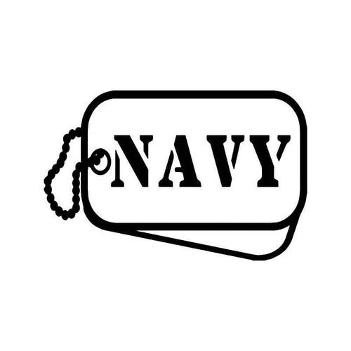 Navy Military Tags Vinyl Sticker