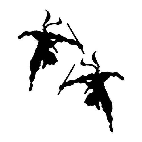 Ninja Warriors Japanese Vinyl Sticker