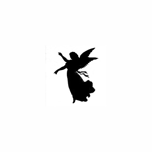 Angel Reaching Silhouette Decal Size option will determine the size from the longest side Industry standard high performance calendared vinyl film Cut from Oracle 651 2.5 mil Outdoor durability is 7 years Glossy surface finish