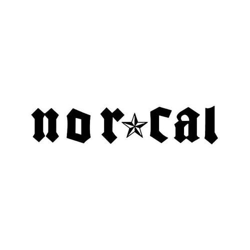 Nor Cal Californaia Vinyl Sticker