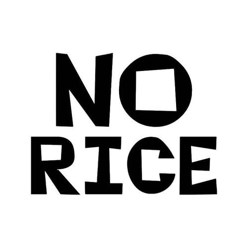 No Rice Jdm Japanese Vinyl Sticker