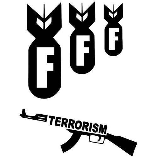 Nuke Terrorism F Bomb Vinyl Sticker