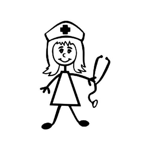 Nurse Stick Figure 2 Vinyl Sticker