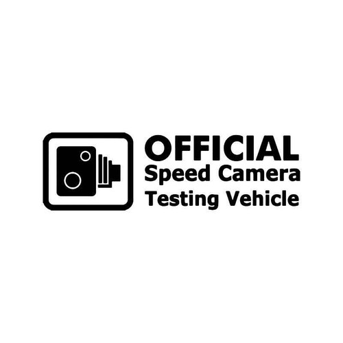 Official Speed Camera Testing Vehicle Jdm Japanese Vinyl Sticker