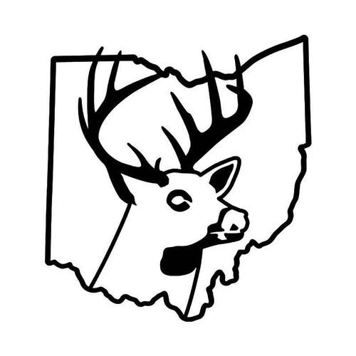 Ohio State Deer Buck Hunting Vinyl Sticker