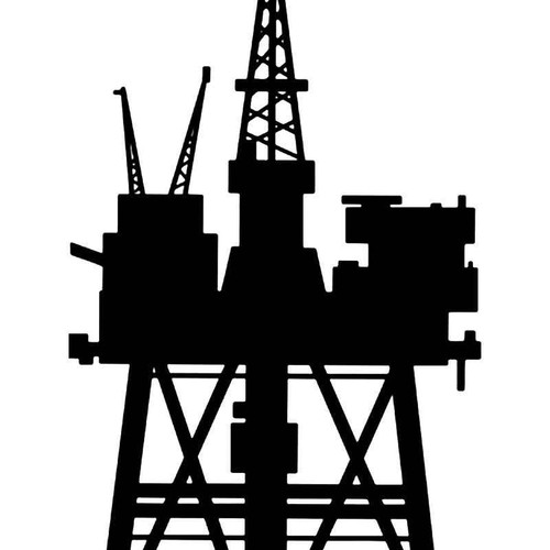 Oil Rig Drill Vinyl Sticker