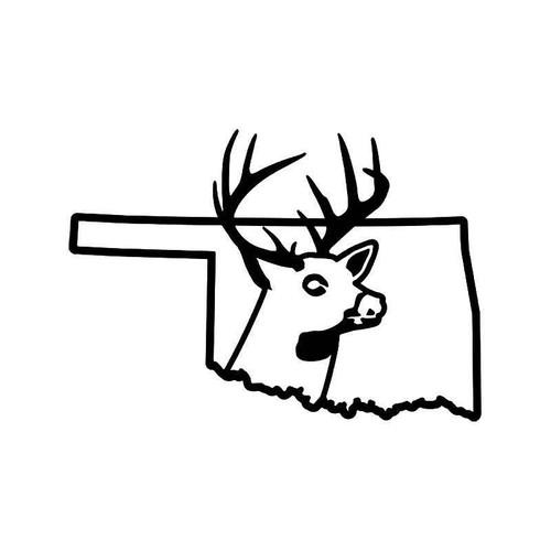 Oklahoma State Deer Buck Hunting Vinyl Sticker