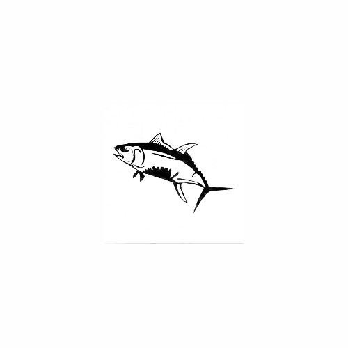 Yellow Fin Tuna Fish Decal (02) Size option will determine the size from the longest side Industry standard high performance calendared vinyl film Cut from Oracle 651 2.5 mil Outdoor durability is 7 years Glossy surface finish