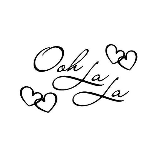 Ooh La La Paris Love Vinyl Sticker