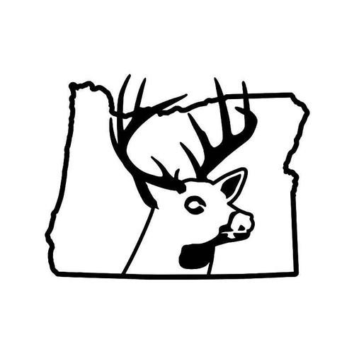 Oregon State Deer Buck Hunting Vinyl Sticker