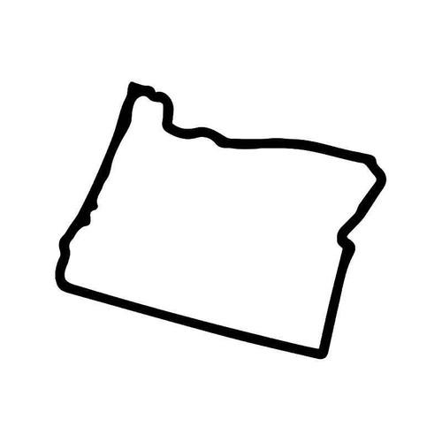 Oregon State Map Vinyl Sticker