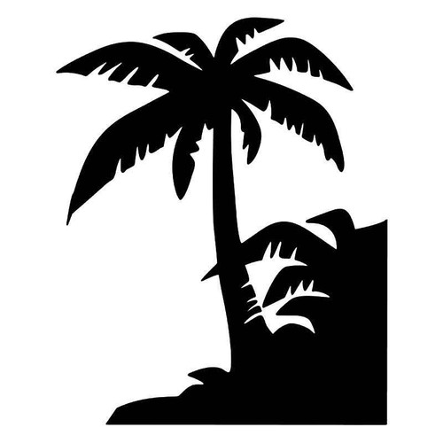 Palm Tree Beach 10 Vinyl Sticker