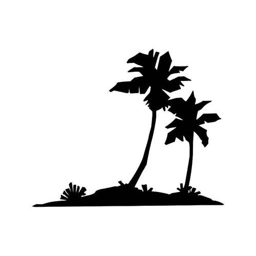 Palm Tree Beach 2 Vinyl Sticker