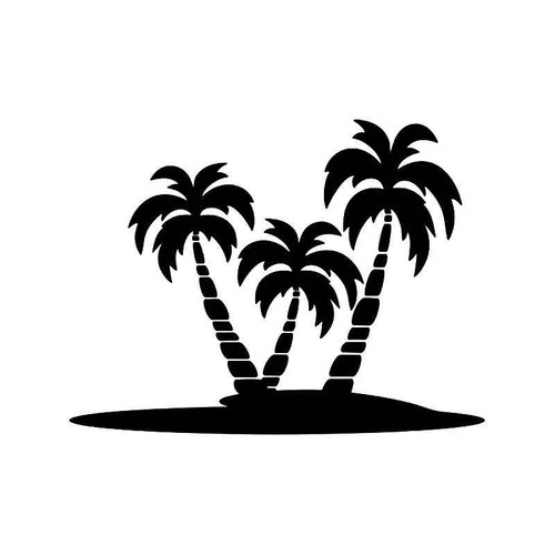 Palm Tree Beach 3 Vinyl Sticker