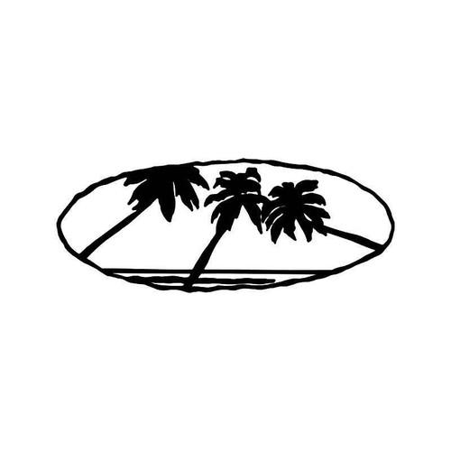 Palm Tree Beach 4 Vinyl Sticker