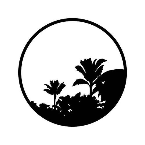Palm Tree Beach 6 Vinyl Sticker