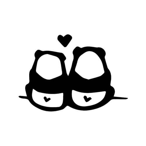 Panda Bear Couple Love Vinyl Sticker