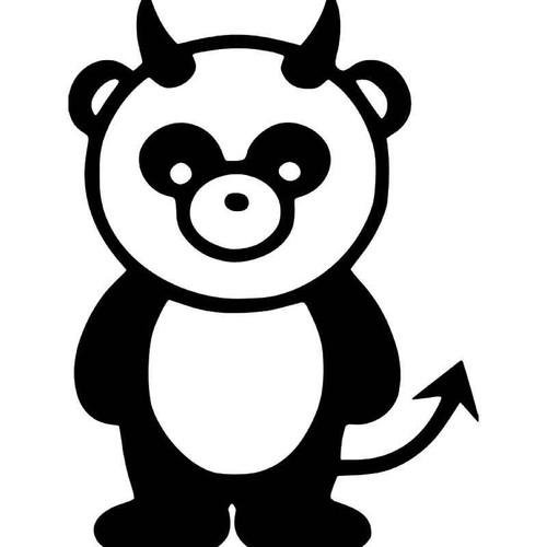 Panda Bear Evil Jdm Japanese Vinyl Sticker