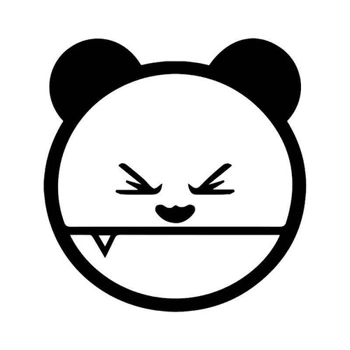Panda Bear Fang Jdm Japanese Vinyl Sticker