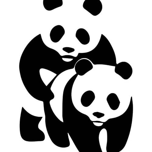 Panda Bear Sex Vinyl Sticker