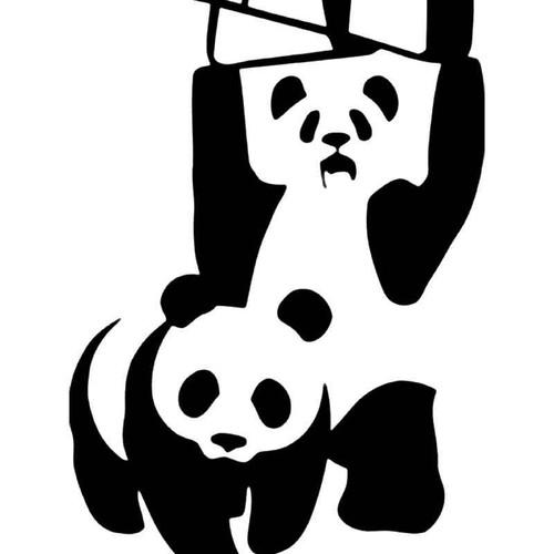 Panda Bear Wrestling Wwf Jdm Japanese Vinyl Sticker