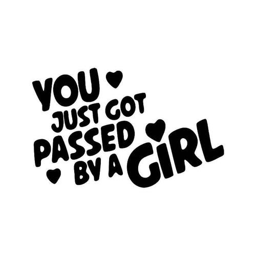 Passed By Girl Vinyl Sticker