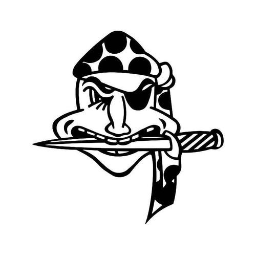 Patched Eye Pirate Skull 1 Vinyl Sticker