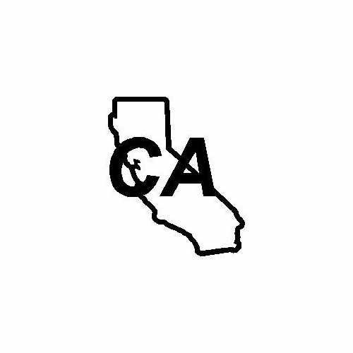 States Ca  Vinyl Decal Sticker  Size option will determine the size from the longest side Industry standard high performance calendared vinyl film Cut from Oracle 651 2.5 mil Outdoor durability is 7 years Glossy surface finish