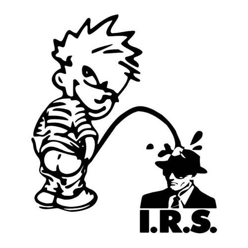 Pee Piss Irs Tax Funny Vinyl Sticker