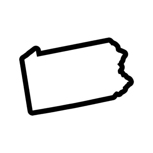 Pennsylvania State Map Vinyl Sticker