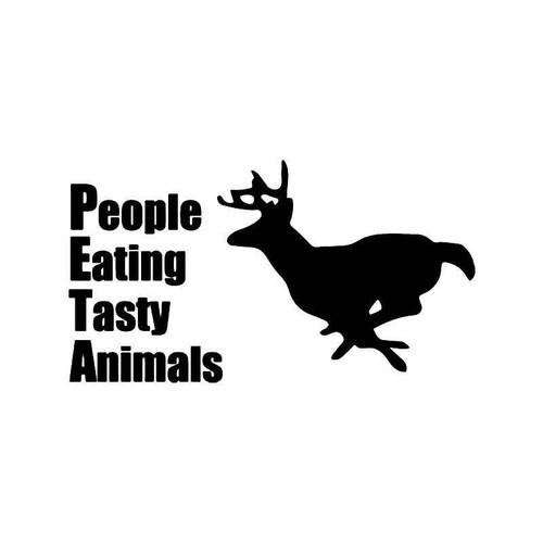 Peta Deer Running Vinyl Sticker