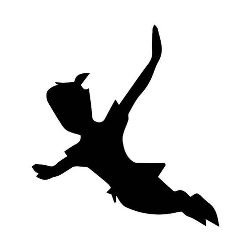 Peter Pan Flying Vinyl Sticker
