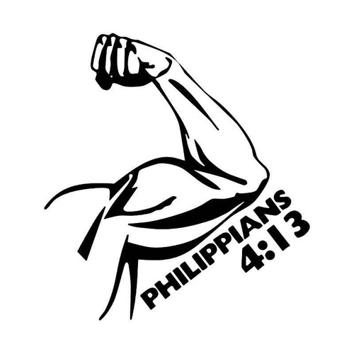 Philippians 413 Bible Vinyl Sticker