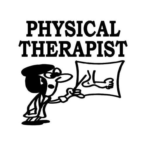 Physical Therapist Vinyl Sticker