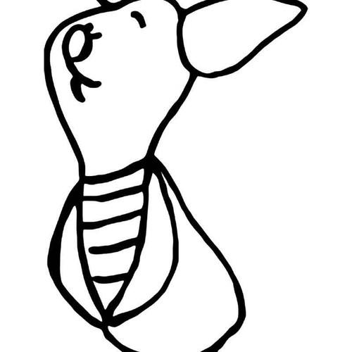 Piglet Winnie Pooh Vinyl Sticker