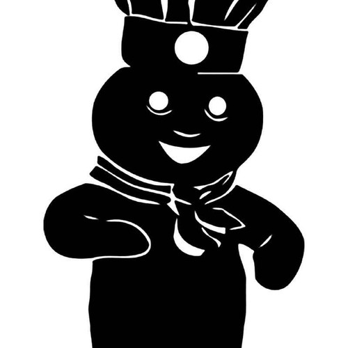Pillsbury Doughboy 2 Vinyl Sticker