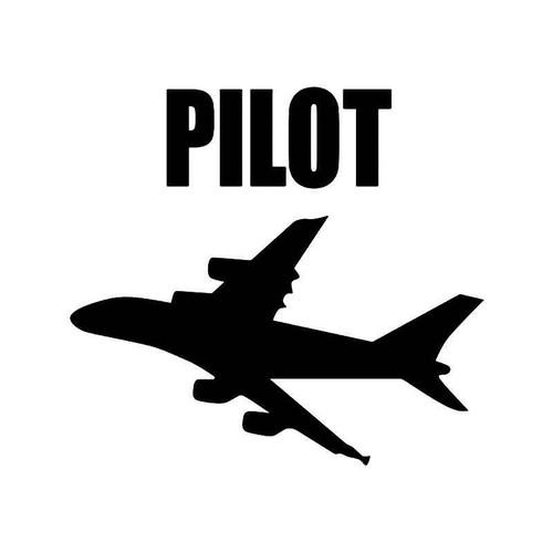 Pilot Airplane Vinyl Sticker