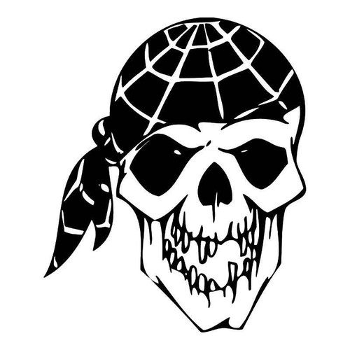 Pirate Skull Vinyl Sticker