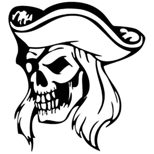 Pirate Skull 1262 Vinyl Sticker