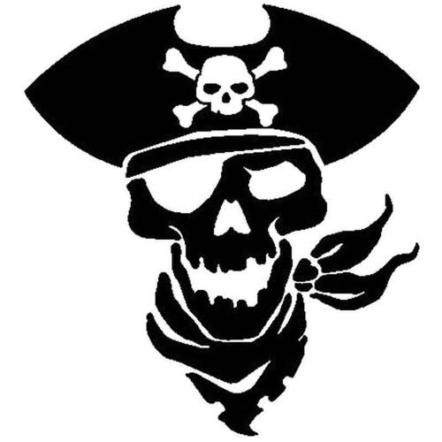 Pirate Skull 717 Vinyl Sticker