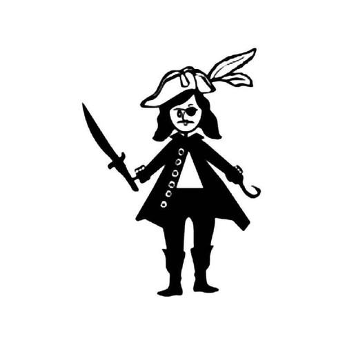 Pirate Stick Figure Vinyl Sticker