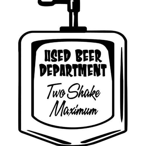 Piss Beer Urinal Funny Vinyl Sticker