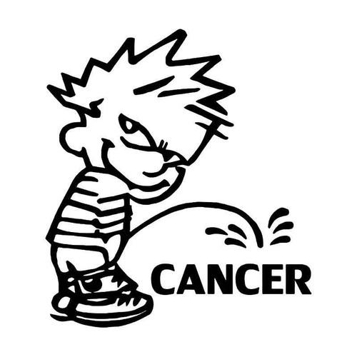Piss Pee On Cancer Vinyl Sticker