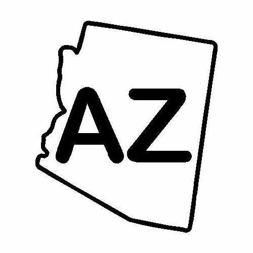 States Arizona  Vinyl Decal Sticker  Size option will determine the size from the longest side Industry standard high performance calendared vinyl film Cut from Oracle 651 2.5 mil Outdoor durability is 7 years Glossy surface finish