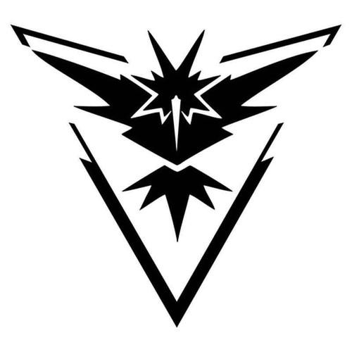 Pokemon Go Team Instinct Symbol 2018 Vinyl Sticker