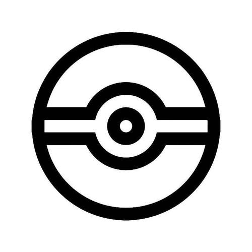 Pokemon Logo Pokeball Gaming Vinyl Sticker