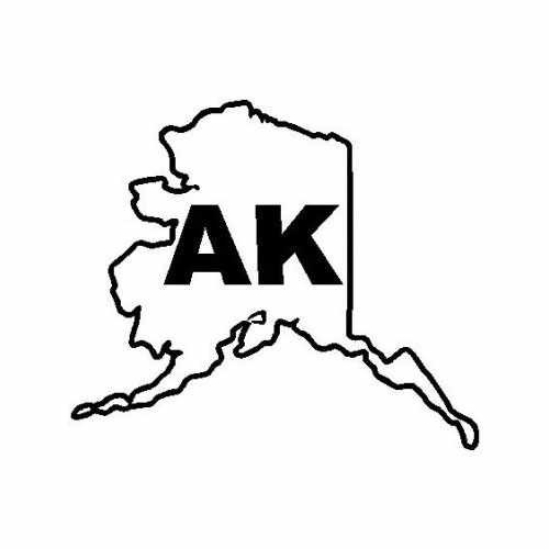 States Alaska  Vinyl Decal Sticker  Size option will determine the size from the longest side Industry standard high performance calendared vinyl film Cut from Oracle 651 2.5 mil Outdoor durability is 7 years Glossy surface finish